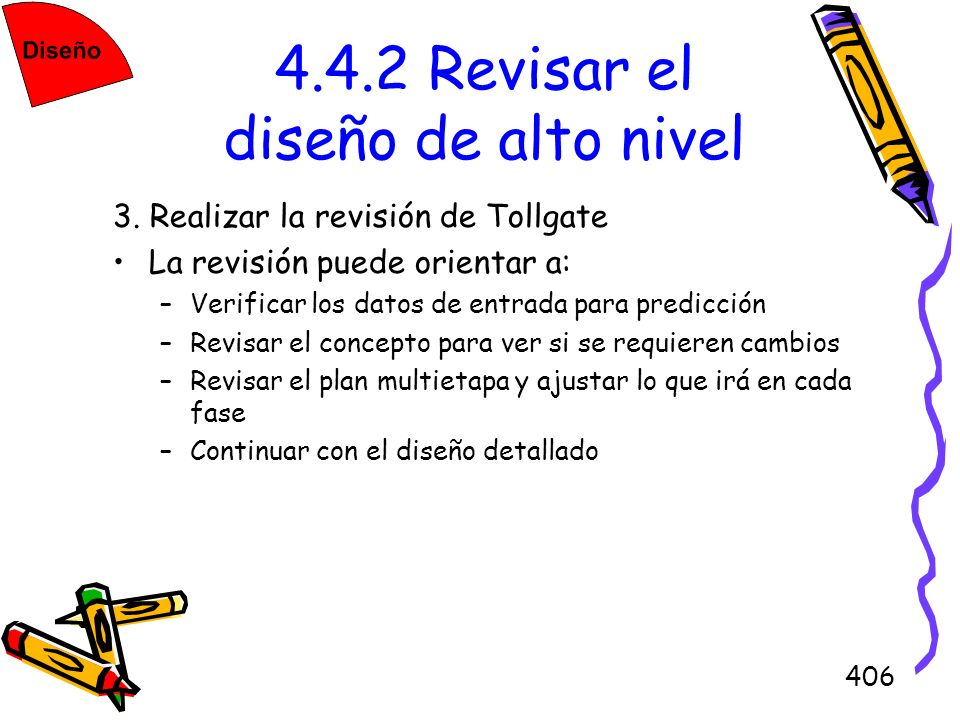 4.4.2 Revisar el diseño de alto nivel