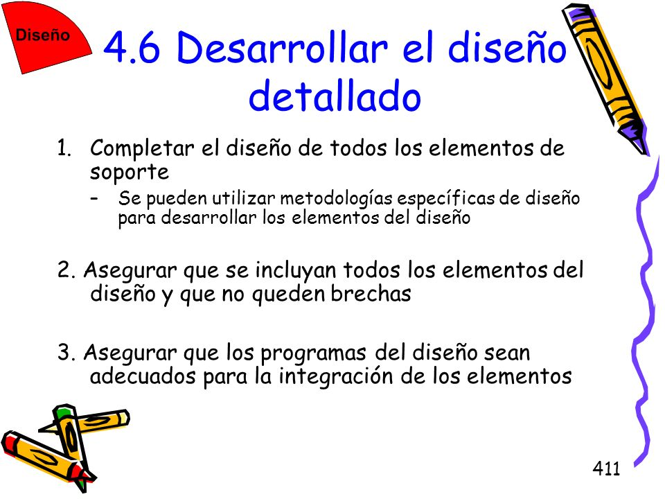 4.6 Desarrollar el diseño detallado