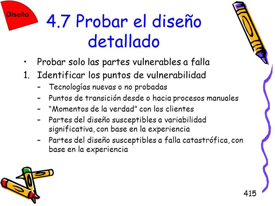 4.7 Probar el diseño detallado