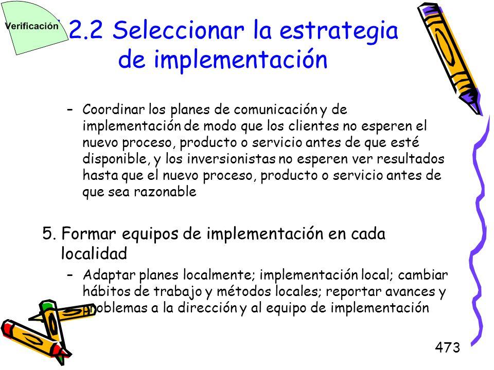 5.2.2 Seleccionar la estrategia de implementación