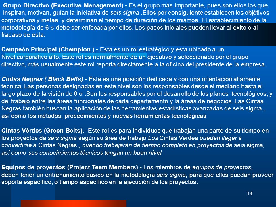 Grupo Directivo (Executive Management)