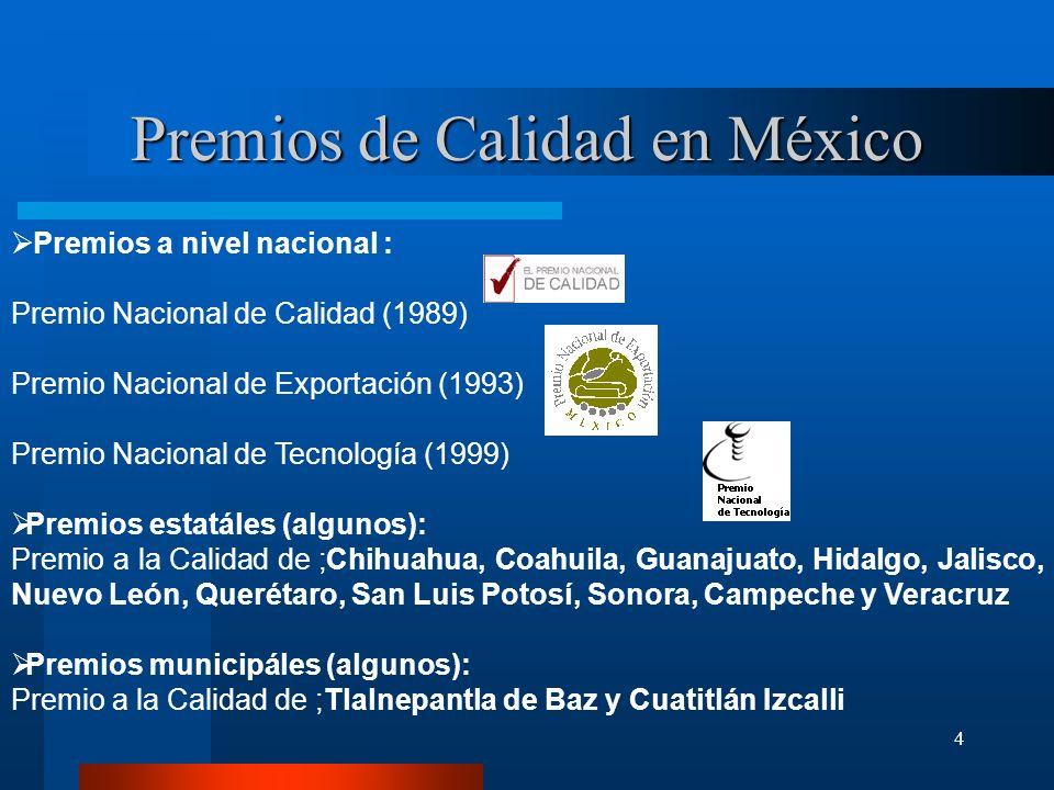 Premios de Calidad en México