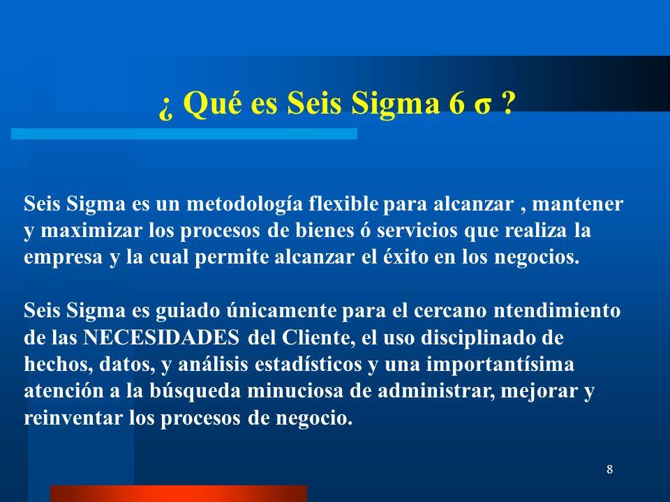 ¿ Qué es Seis Sigma 6 σ