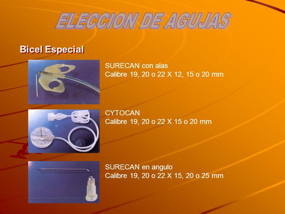 ELECCION DE AGUJAS Bicel Especial SURECAN con alas