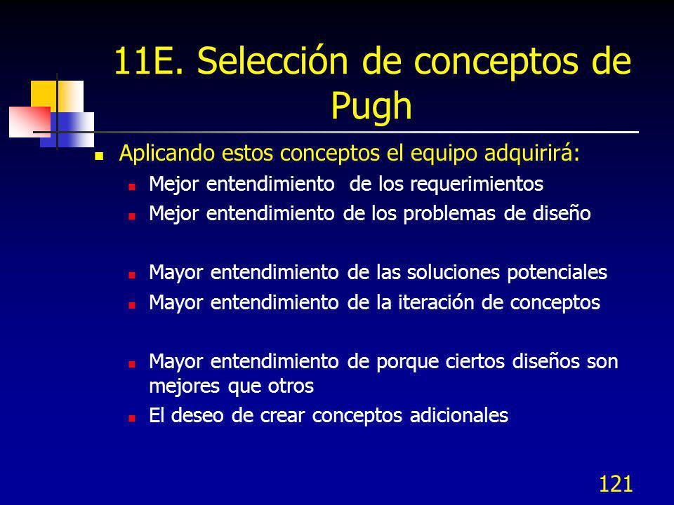 11E. Selección de conceptos de Pugh