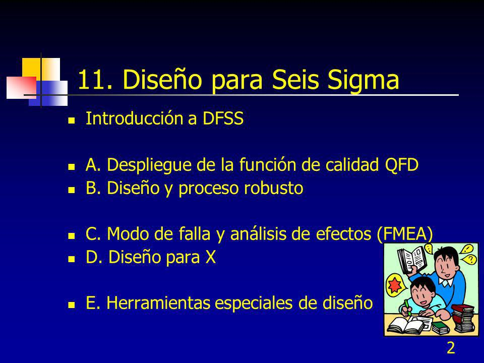 11. Diseño para Seis Sigma Introducción a DFSS