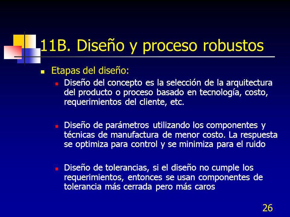 11B. Diseño y proceso robustos