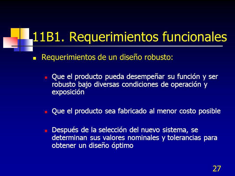 11B1. Requerimientos funcionales