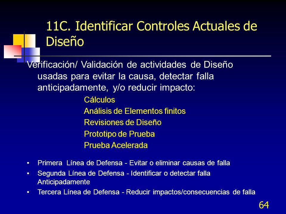 11C. Identificar Controles Actuales de Diseño