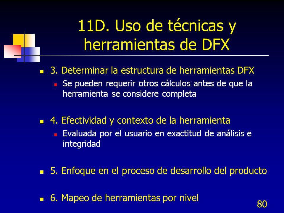 11D. Uso de técnicas y herramientas de DFX