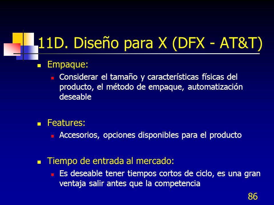 11D. Diseño para X (DFX - AT&T)