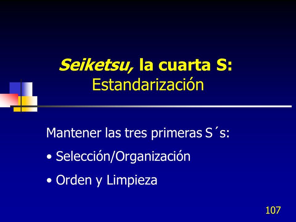 Seiketsu, la cuarta S: Estandarización