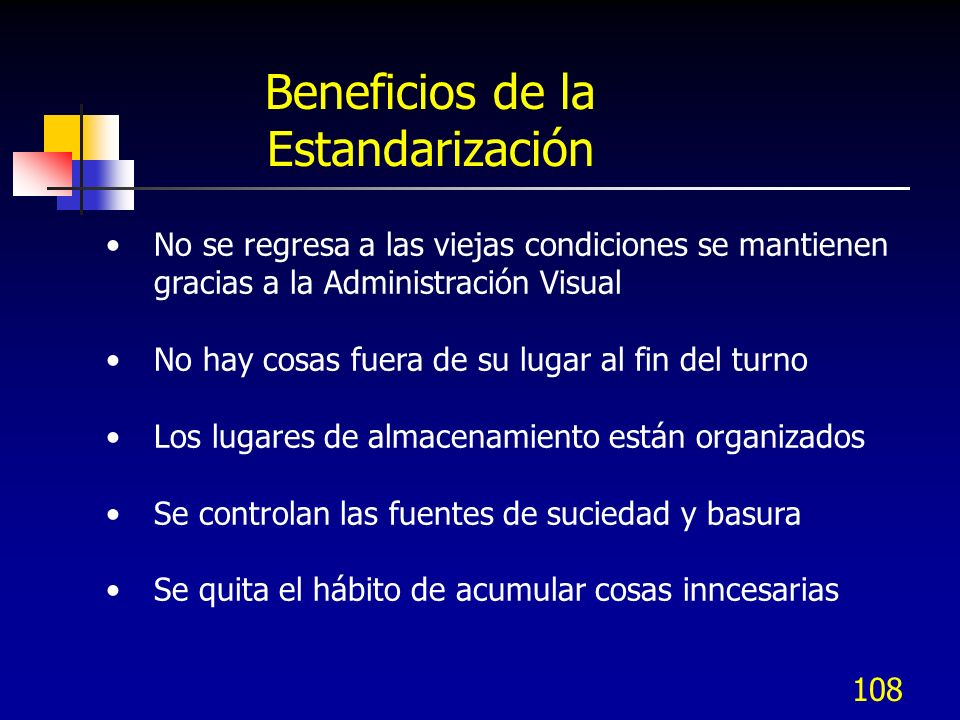 Beneficios de la Estandarización