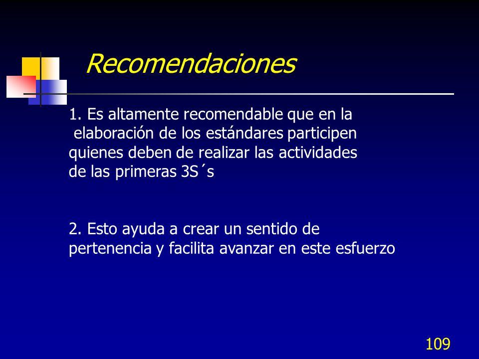 Recomendaciones 1. Es altamente recomendable que en la