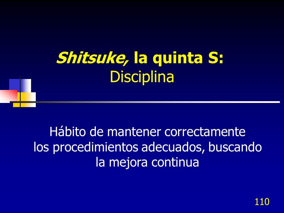 Shitsuke, la quinta S: Disciplina