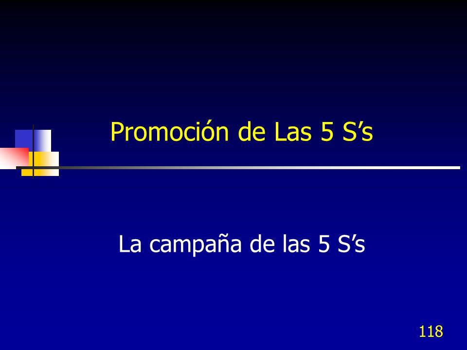 Promoción de Las 5 S's La campaña de las 5 S's Instrucciones: