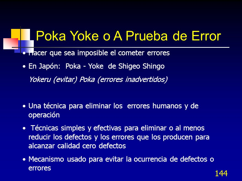 Poka Yoke o A Prueba de Error
