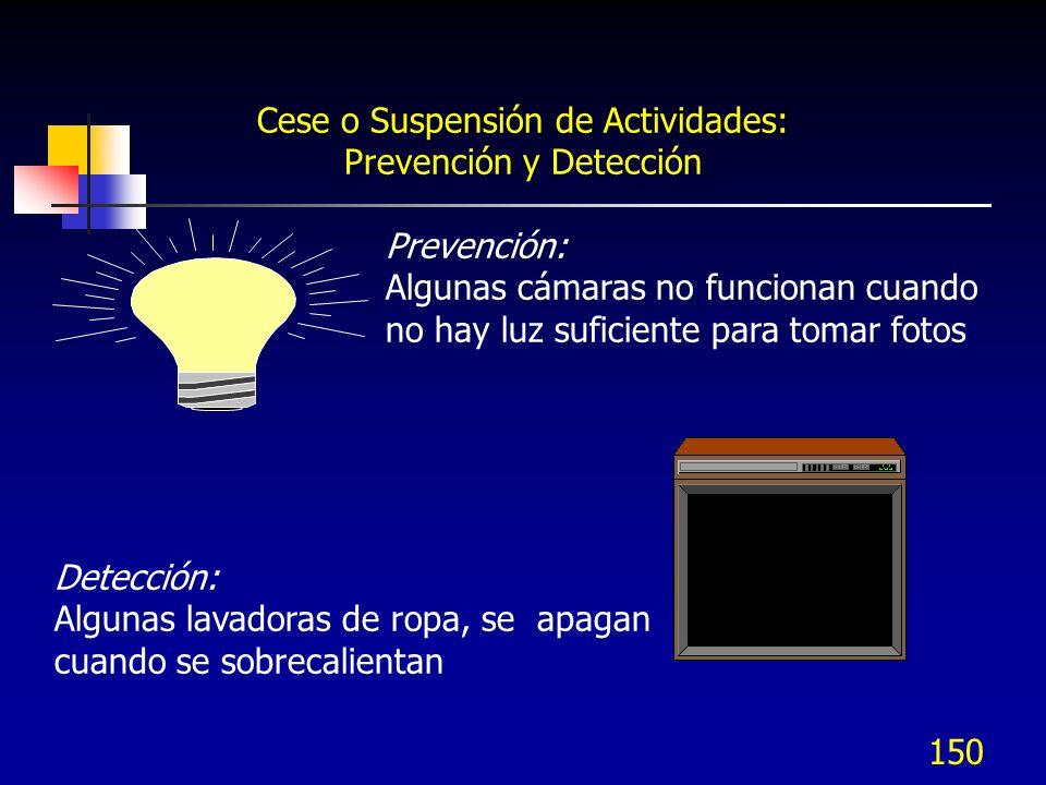 Cese o Suspensión de Actividades: Prevención y Detección
