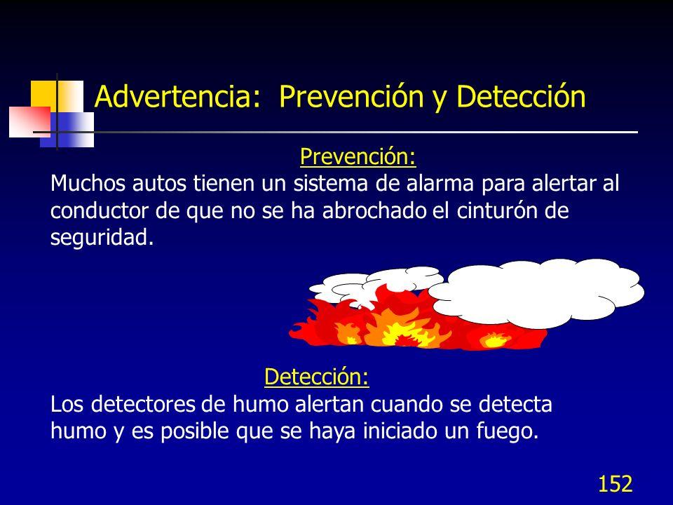 Advertencia: Prevención y Detección