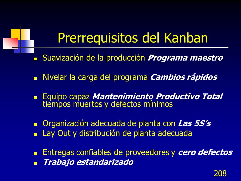 Prerrequisitos del Kanban