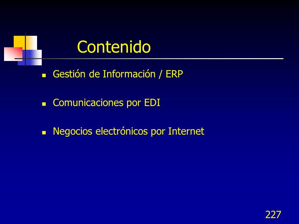 Contenido Gestión de Información / ERP Comunicaciones por EDI