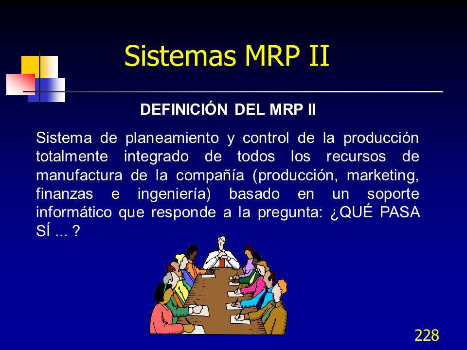 Sistemas MRP II DEFINICIÓN DEL MRP II