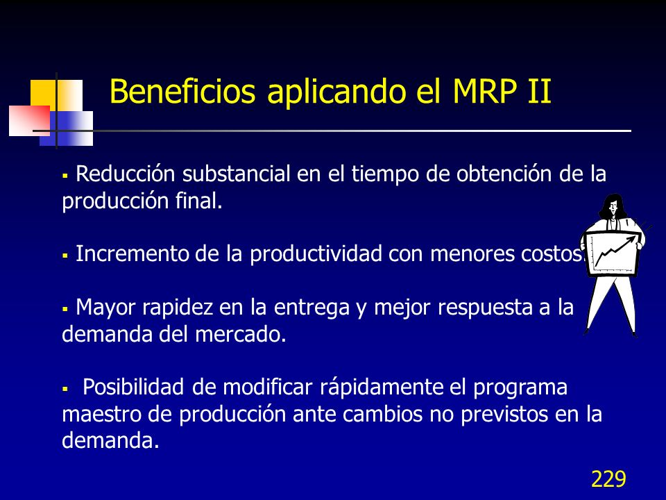 Beneficios aplicando el MRP II