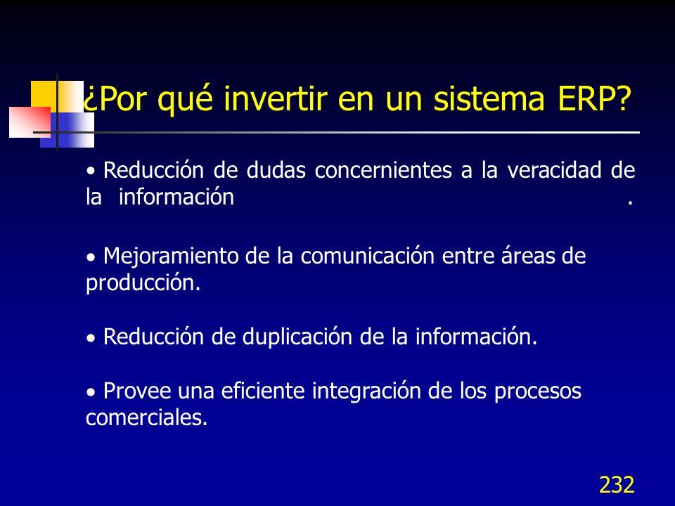 ¿Por qué invertir en un sistema ERP