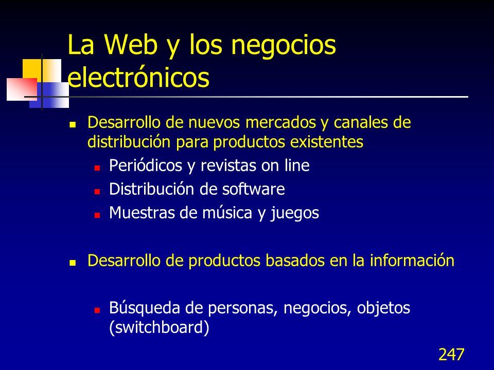 La Web y los negocios electrónicos