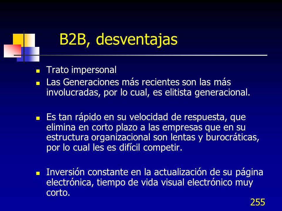 B2B, desventajas Trato impersonal