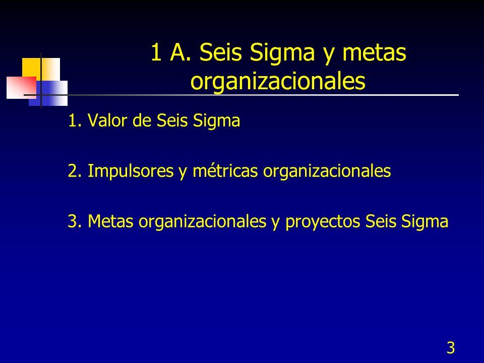 1 A. Seis Sigma y metas organizacionales