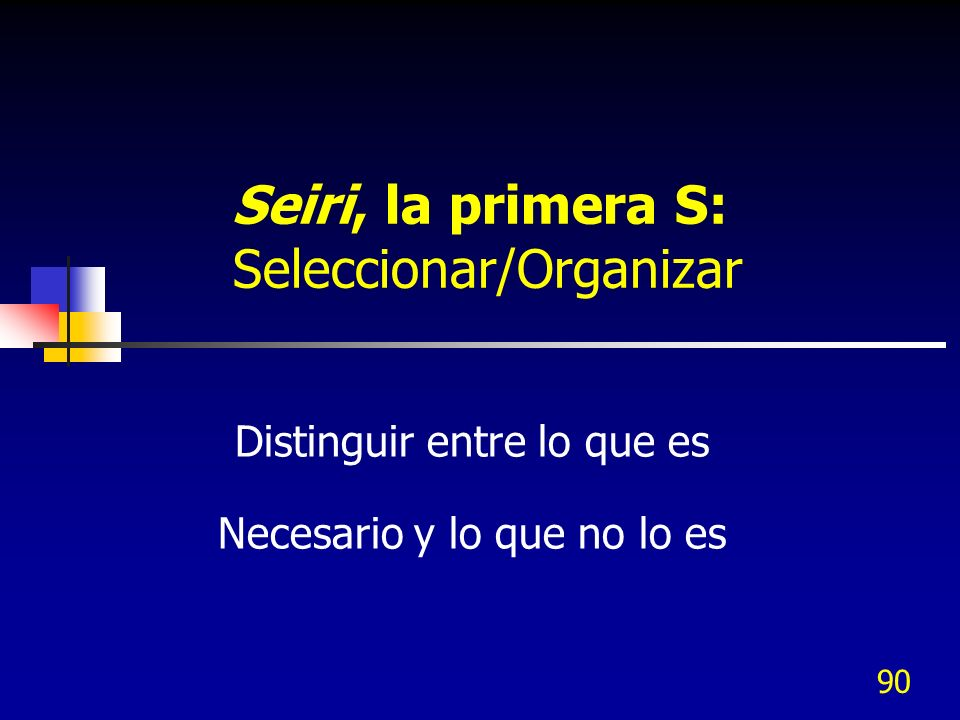 Seiri, la primera S: Seleccionar/Organizar