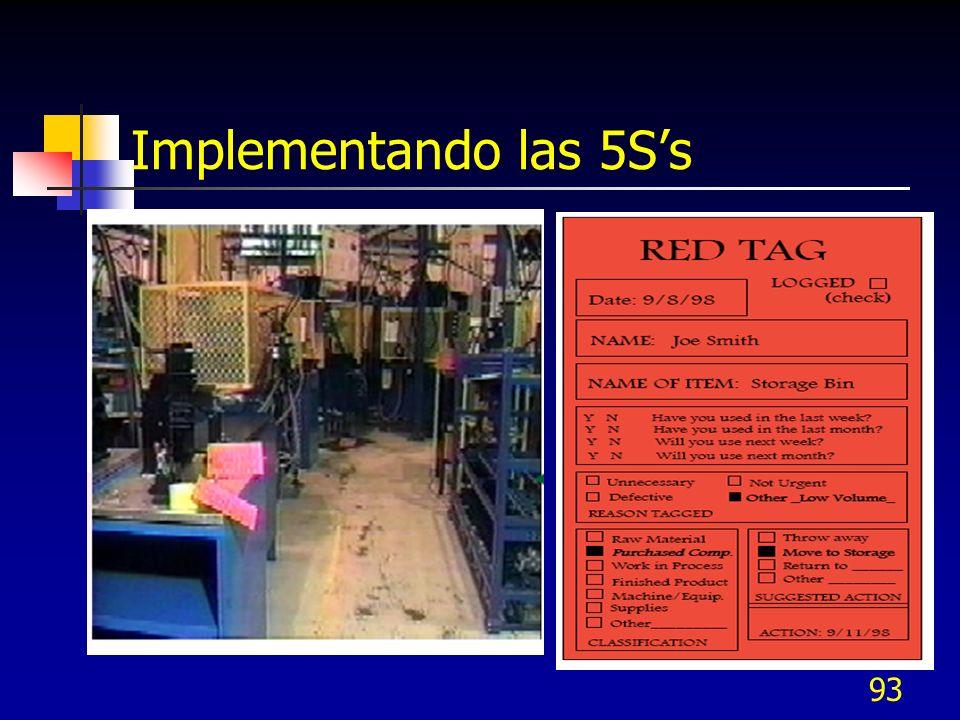 Implementando las 5S's