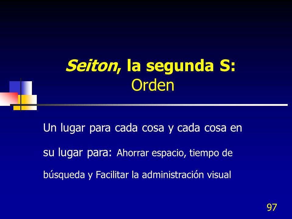 Seiton, la segunda S: Orden