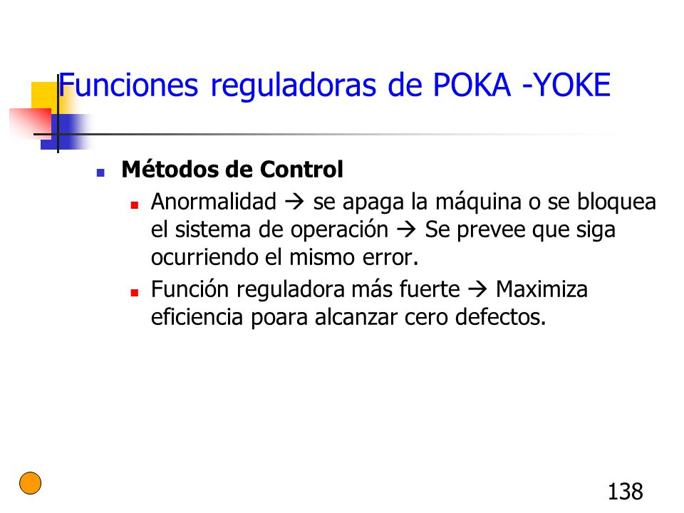 Funciones reguladoras de POKA -YOKE