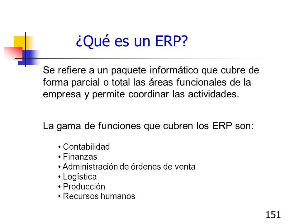 ¿Qué es un ERP