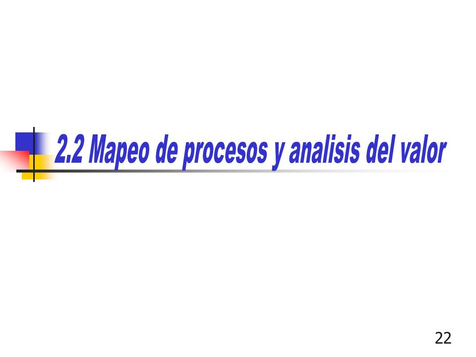 2.2 Mapeo de procesos y analisis del valor