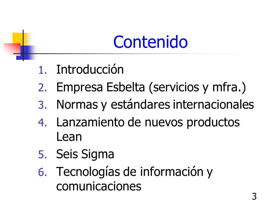 Contenido Introducción Empresa Esbelta (servicios y mfra.)