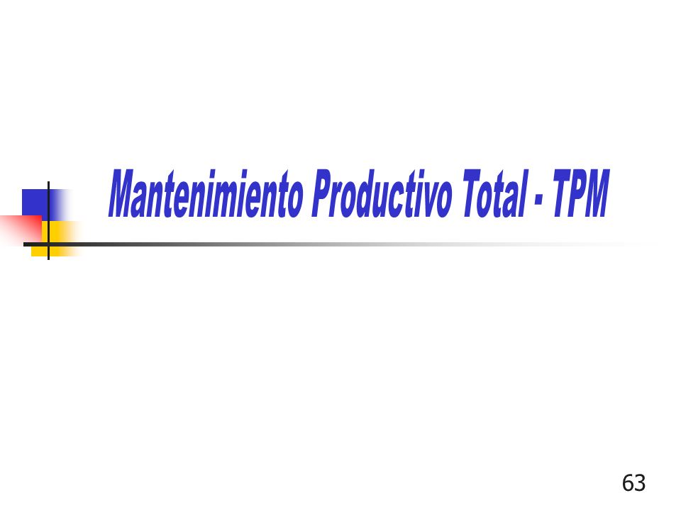 Mantenimiento Productivo Total - TPM