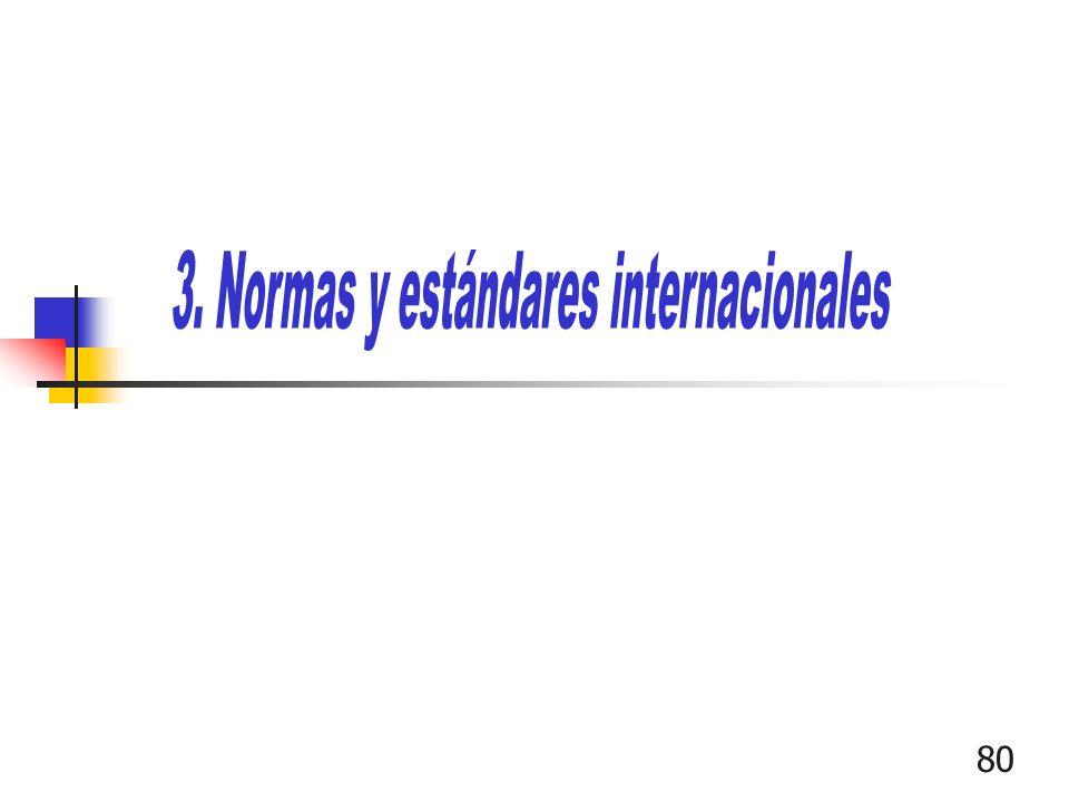 3. Normas y estándares internacionales