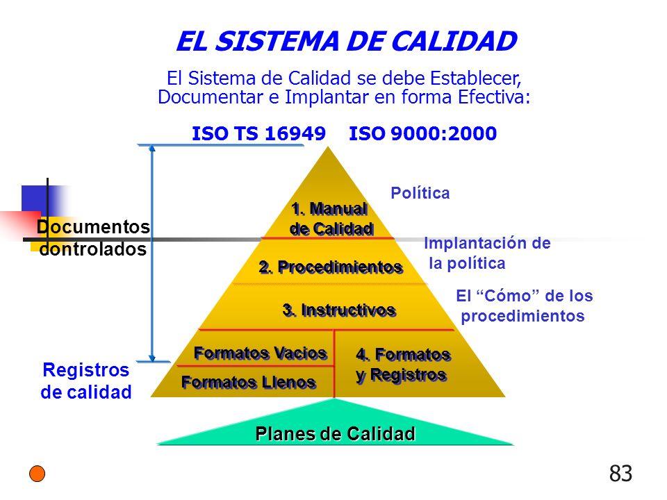 EL SISTEMA DE CALIDAD El Sistema de Calidad se debe Establecer,