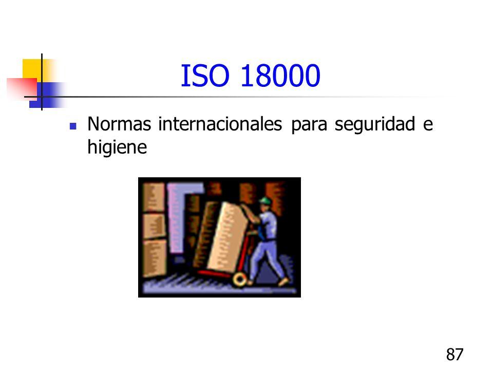 ISO 18000 Normas internacionales para seguridad e higiene