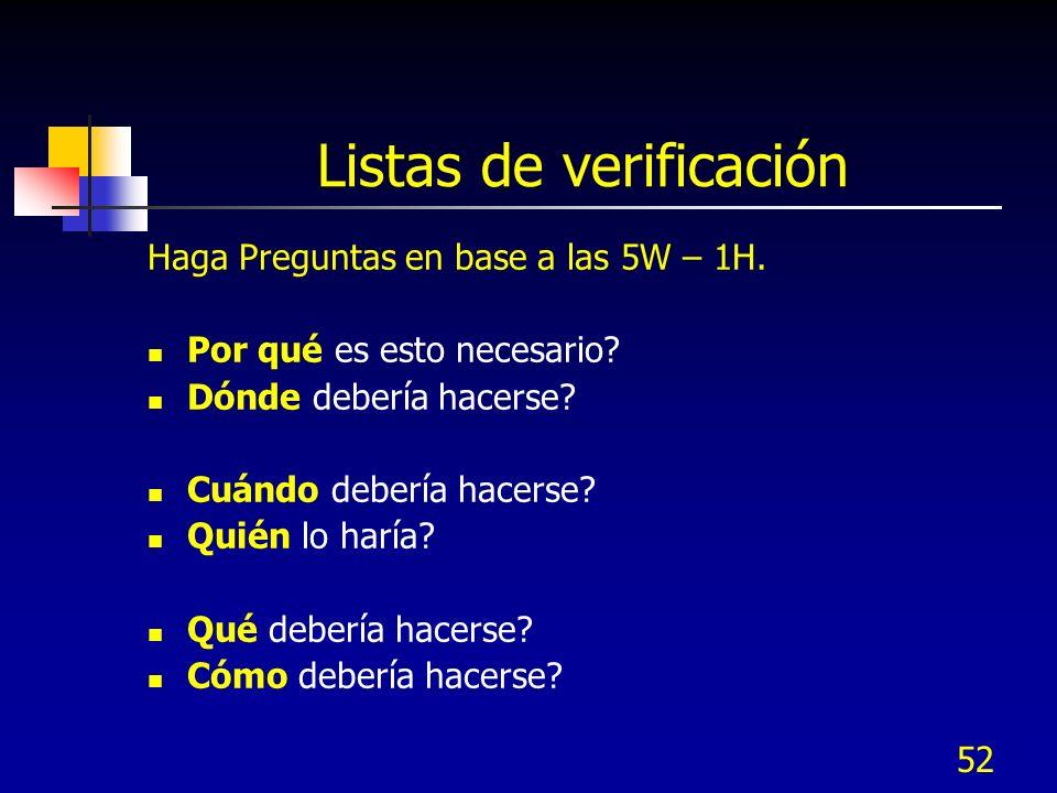 Listas de verificación