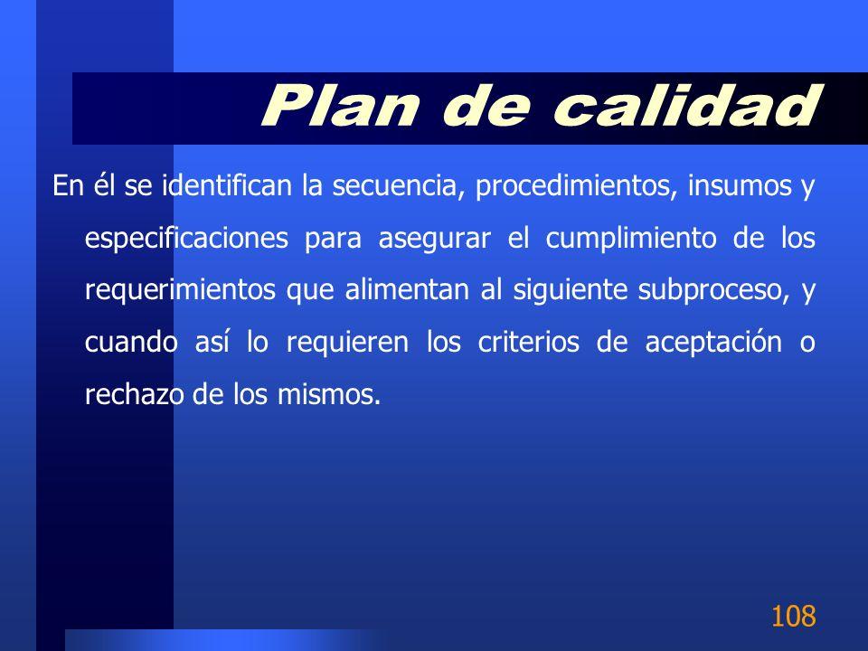 Plan de calidad