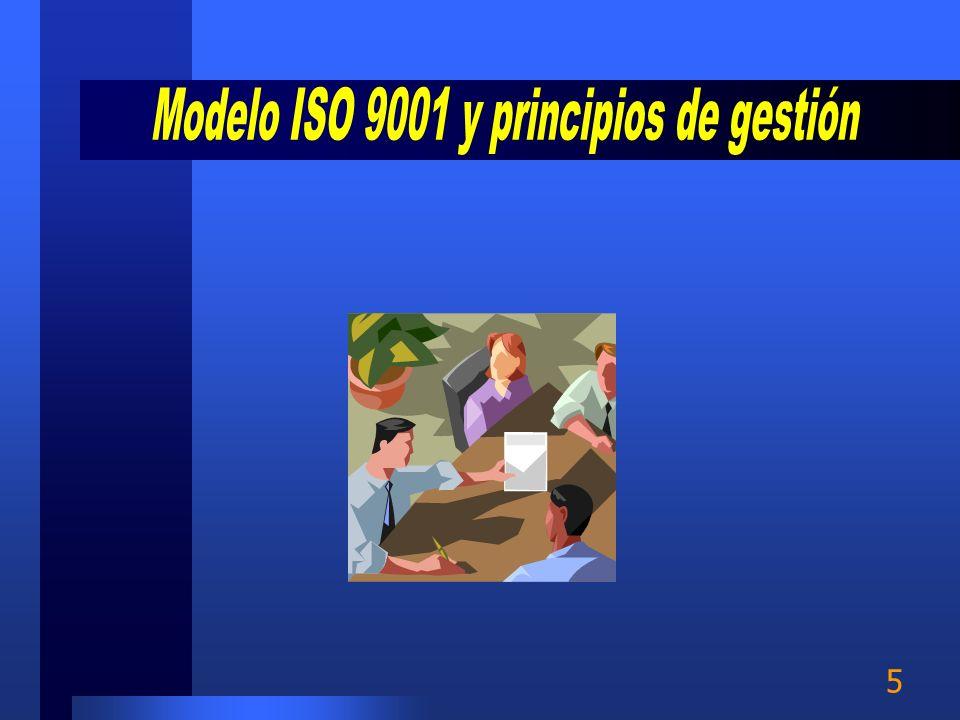 Modelo ISO 9001 y principios de gestión