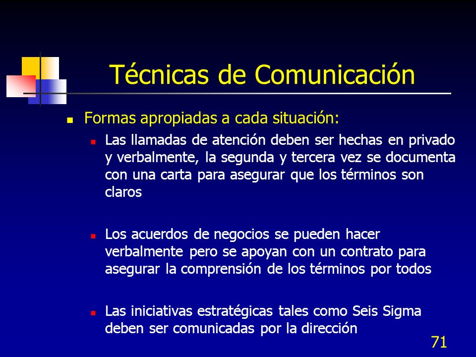 Técnicas de Comunicación