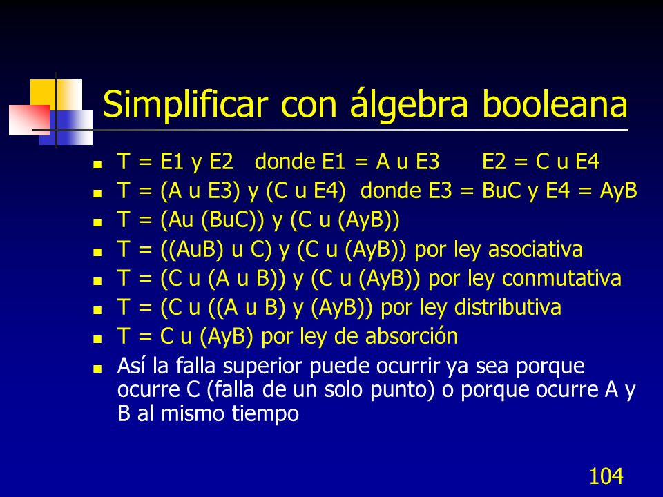 Simplificar con álgebra booleana