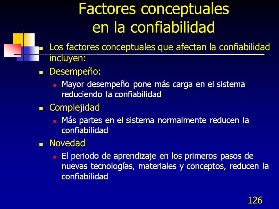 Factores conceptuales en la confiabilidad