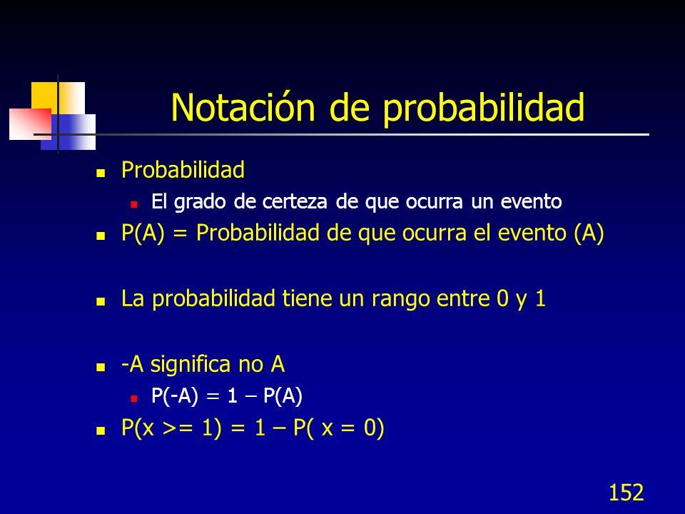 Notación de probabilidad