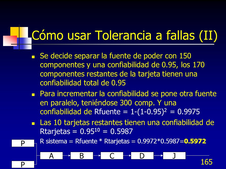 Cómo usar Tolerancia a fallas (II)